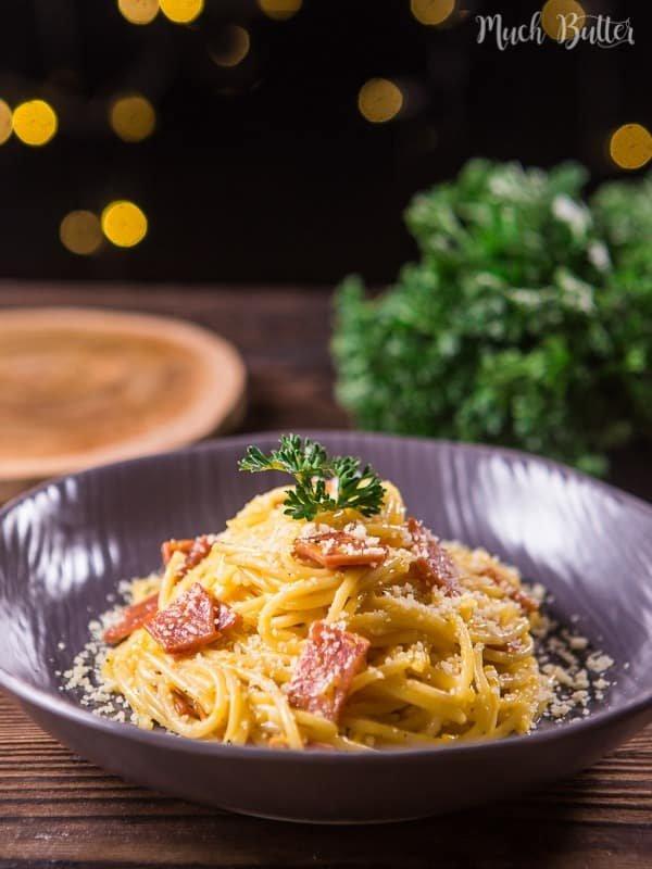 Resep Spaghetti Carbonara Smoked Beef
