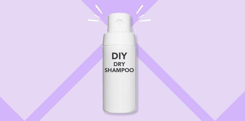 top image diy dry shampoo