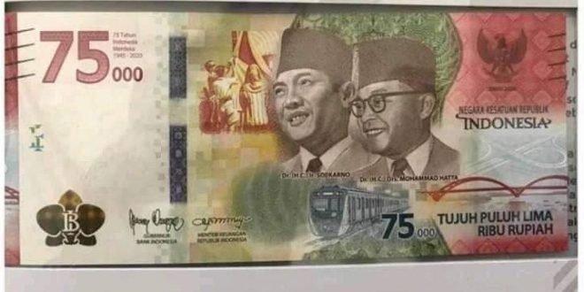 syarat dan cara mendapatkan pecahan uang 75ribu baru