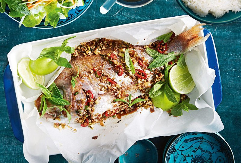 vietnamese lemongrass and chilli steamed fish 109671 1