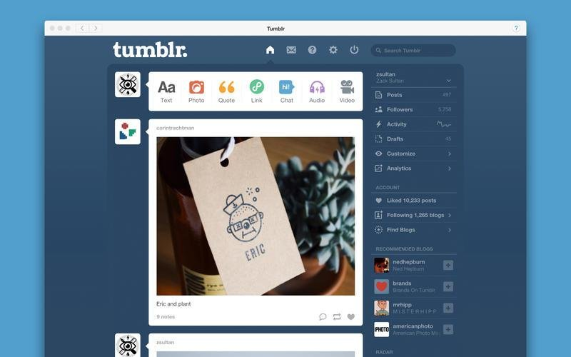 web tumblr