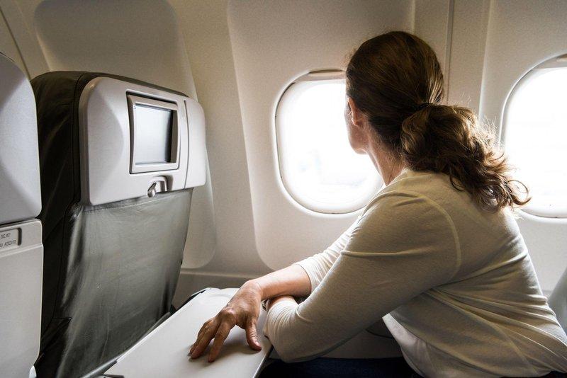 woman on plane 0